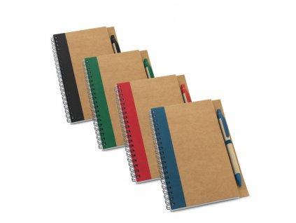 053357-49 tyrkysova poznamkový zápisník s gumičkou, vlepená kapsa a poutko na pero,240 stran, linkovaný zápisník, formát A5