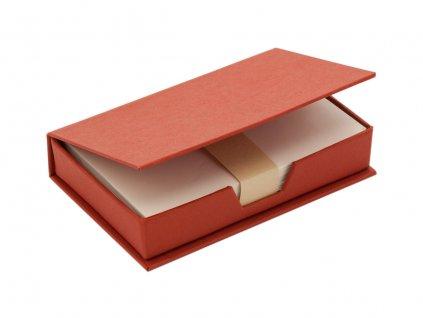 M791052-05|POZNÁMKOVÉ PAPÍRKY NA PRACOVNÍ STŮL V BOXU|REKLAMNÍ PŘEDMĚTY S POTISKEM I BEZ POTISKU|ČERVENÁ