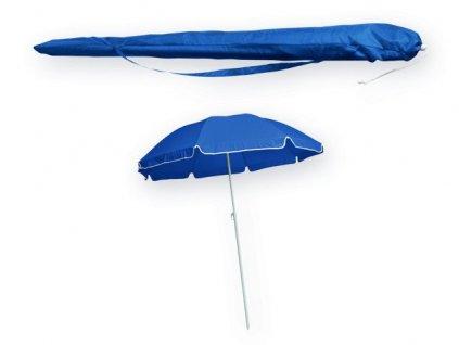 M761280-06|slunečníky|plážové slunečníky|slunečník v obalu přes rameno|reklamní potisk|firemní potisk|propagační potisk na slunečníky|modrá