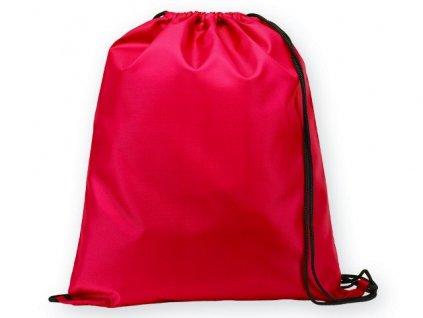 092910-05|sportovní stahovací vak na záda se šňůrkami a s 1 hlavní kapsou|Reklamní batohy a vaky|Reklamní potisk logem firmy|červená