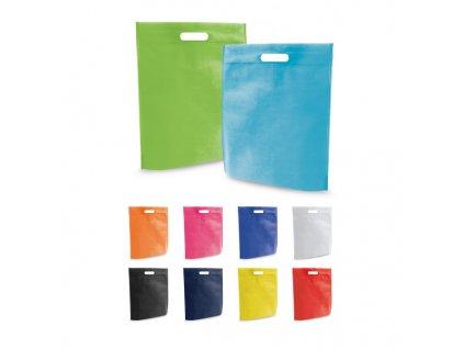 092499 set Nejlevnější nákupní tašky Barevné tašky z netkané textilie Levné tašky netkané