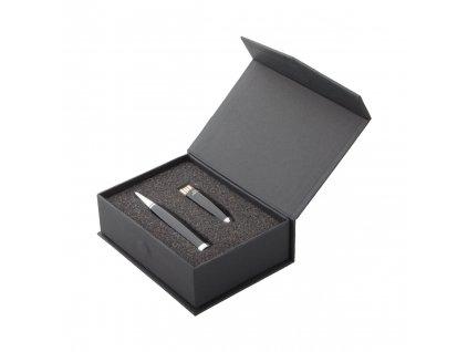 M721347 10 32gb/ REKLAMMÍ USB DISKY/ PERA/ PROPISKY/ KOVOVÉ USB PERO V DÁRKOVÉM BALENÍ/ ČERNÁ