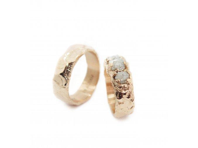 set prsteny svatební