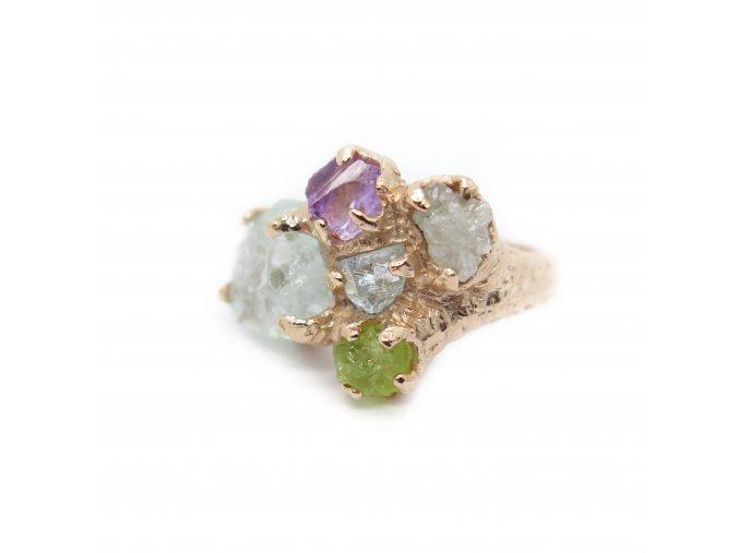 akvamaríny, ametrin, diamant, olivín