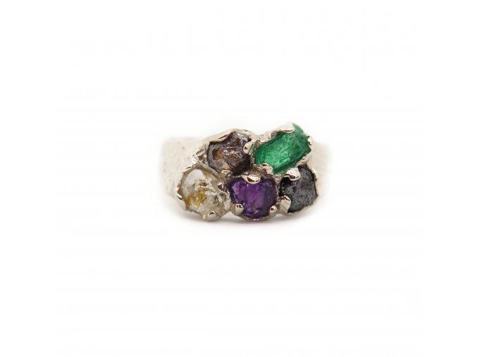 herkimer diamant, raw diamanty, ametyst, smaragd, granát