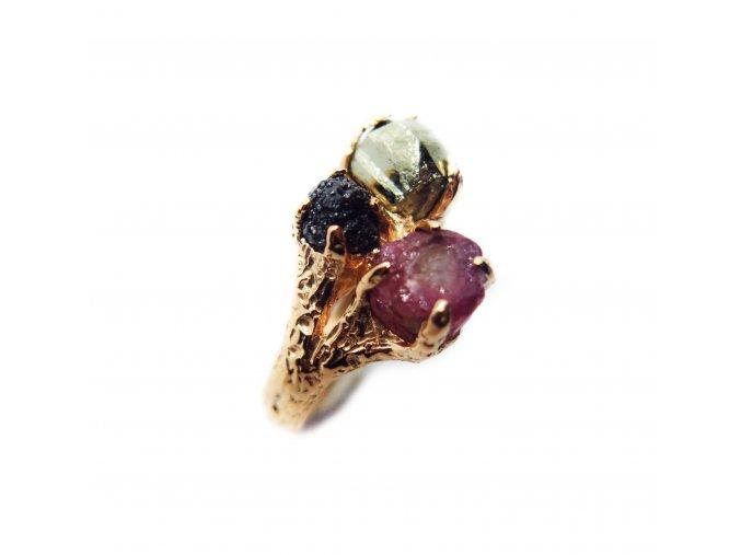 turmalín, diamant, pyrit