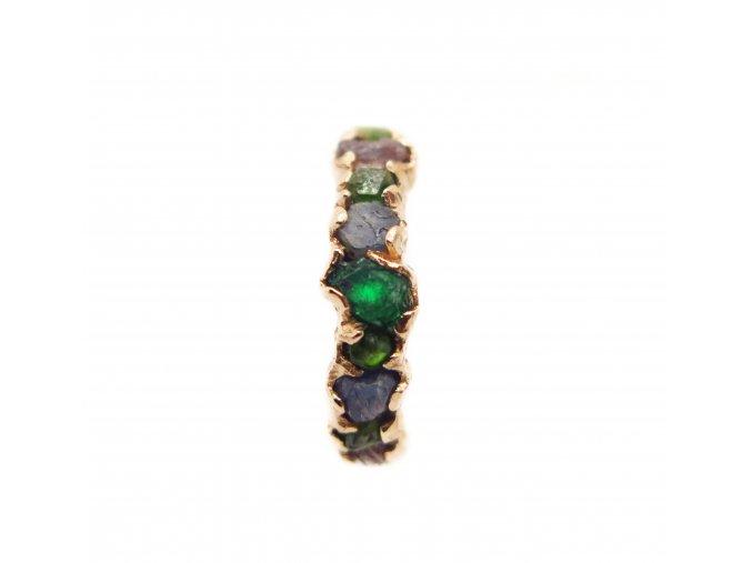 Mix mini raw kameny, diamanty, turmalíny, safír, smaragdy, spinel, topaz, opal, agate grape...
