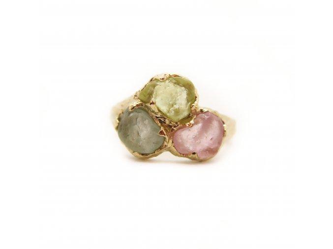prsten - safíry