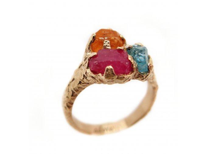 rubín, apatit, oranžový granát krystal-Nigéria