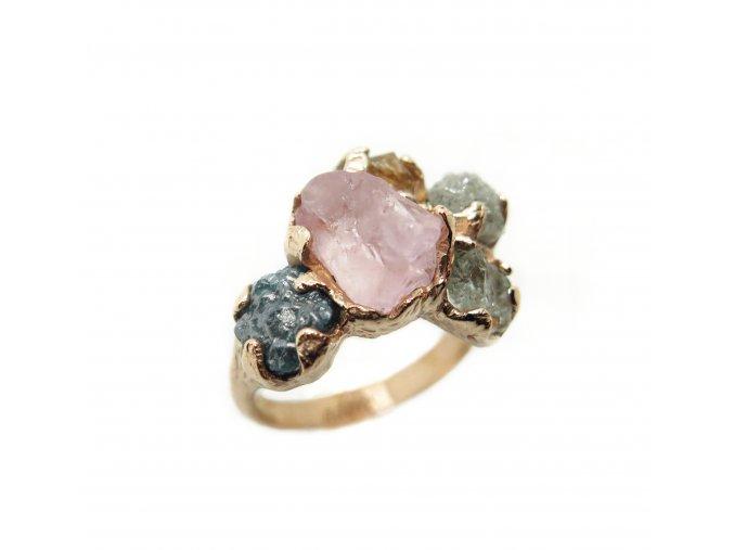 5 kamenů, akvamarín, diamanty, herkimer diamant, morganit