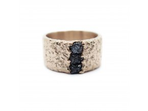 prsten tri diamanty
