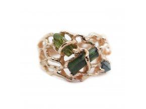 turmalín, vesuvianit, raw diamant