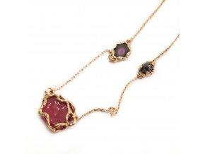 rubín, diamant, melounový turmalín
