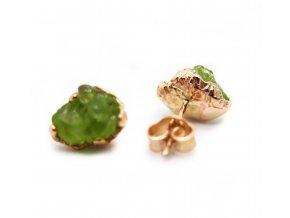 náušnice - olivíny