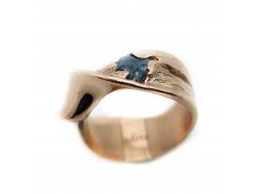 prsten-protočení, modrý diamant