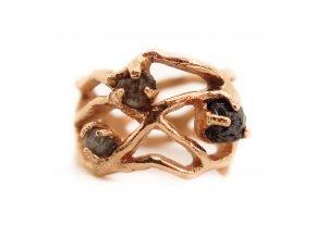 prsten - pavučina a diamanty