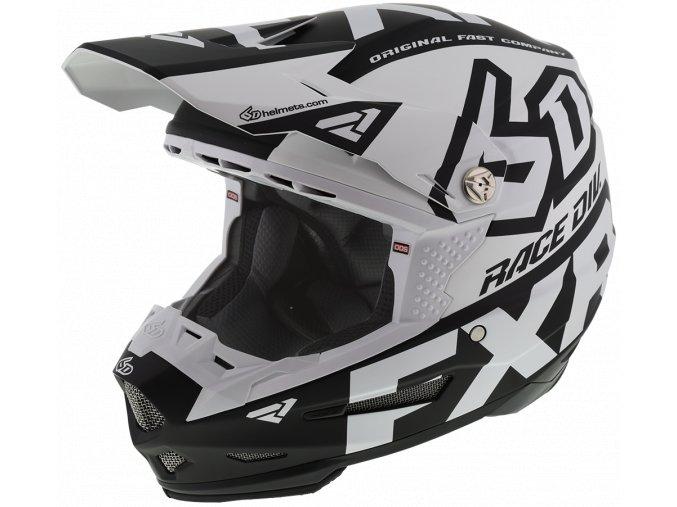 6DRaceDiv Helmet WhiteBlack 200600 0110