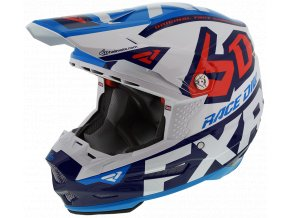 6DRaceDiv Helmet WhiteNavyBlueNukeRed 200600 0145