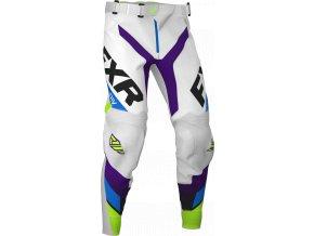 Revo MX kalhoty 20 - bílá/fialová/limeta