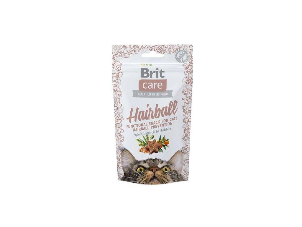 4602 brit care cat snack hairball 50g