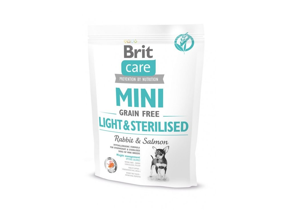 4713 brit care mini grain free light sterilised 400g