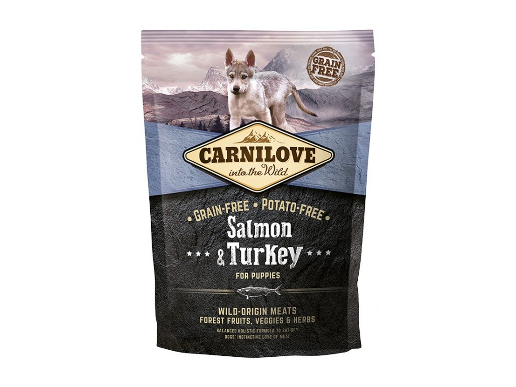 Carnilove Salmon & Turkey for puppies 1,5kg | Tenesco.cz