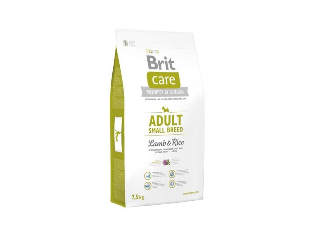 3513 brit care adult small breed lamb rice 7 5kg