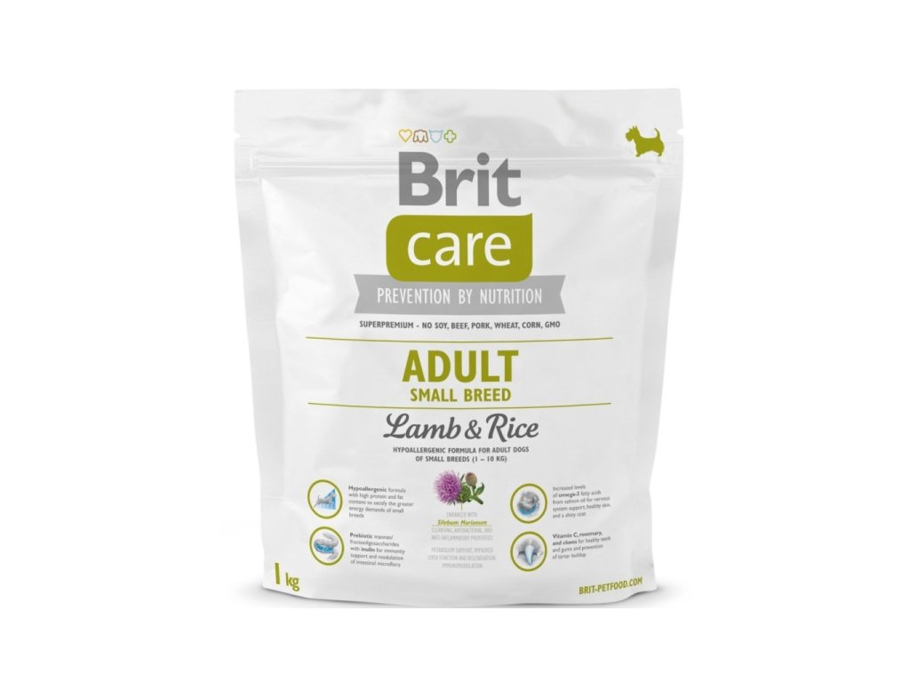 3519 brit care adult small breed lamb rice 1kg