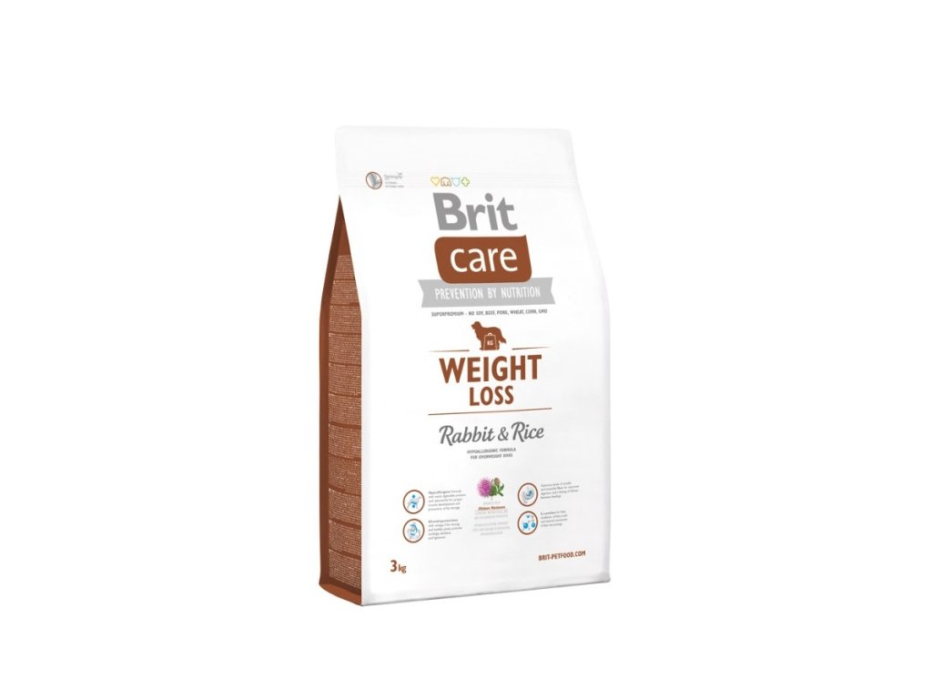 3606 brit care weight loss rabbit rice 3kg