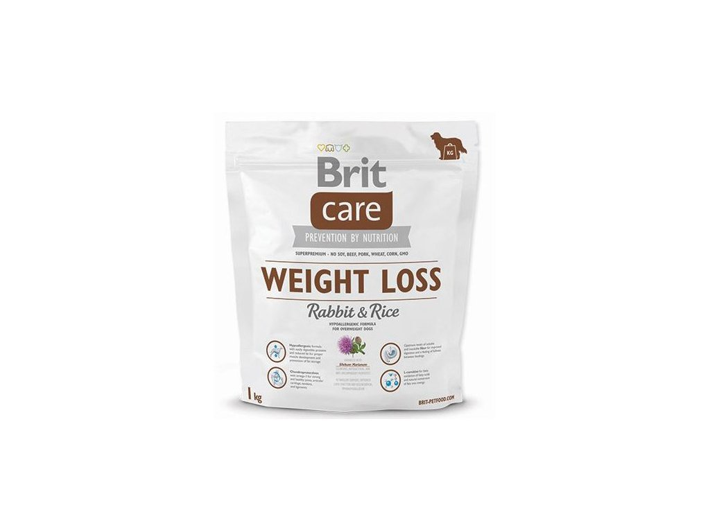 3609 brit care weight loss rabbit rice 1kg