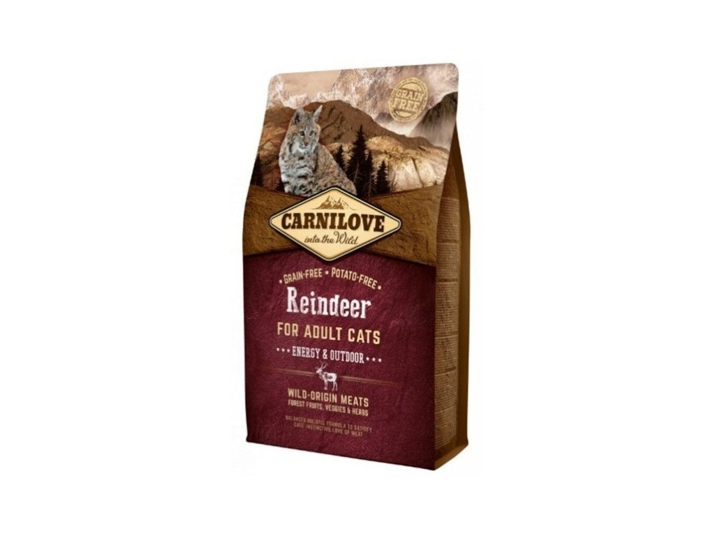 3783 carnilove cat reindeer for adult cats energy outdoor 2kg