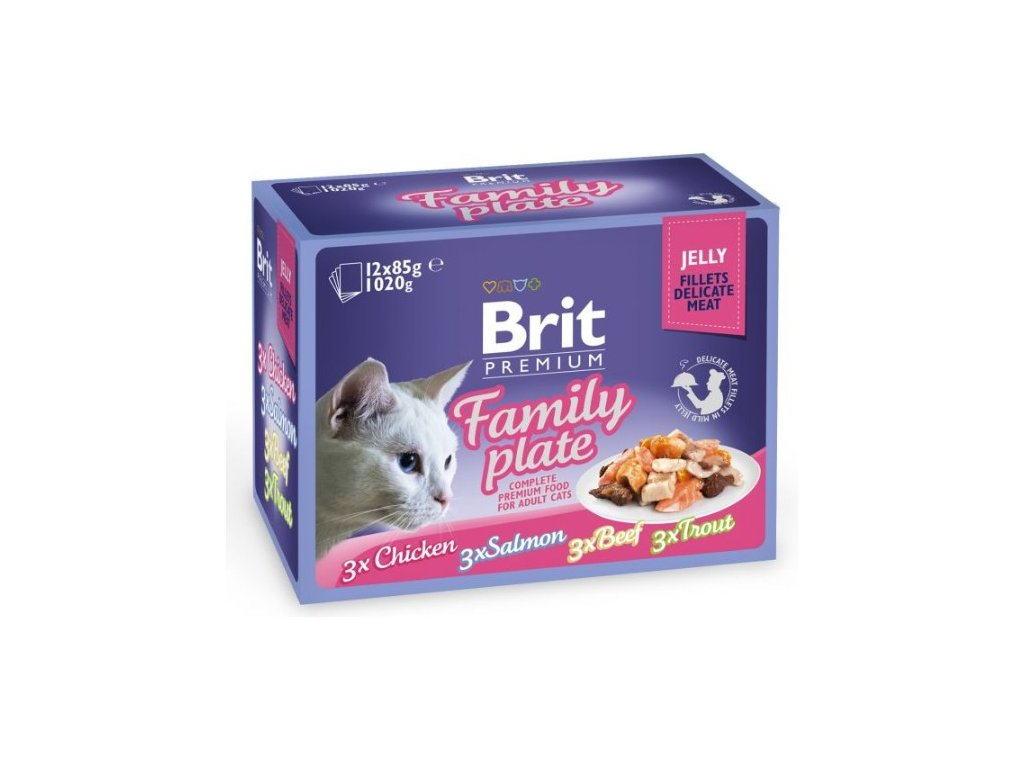 4452 brit premium cat delicate fillets in jelly family plate 1020g 12x85g