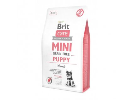 4680 brit care mini grain free puppy lamb 2kg