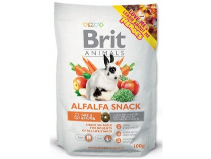 2754 brit animals alfalfa snack for rodents 100g
