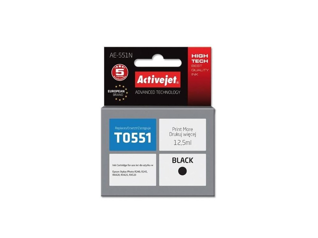 activejet cartridge pro epson epson stylus photo cerna t0551 84251745