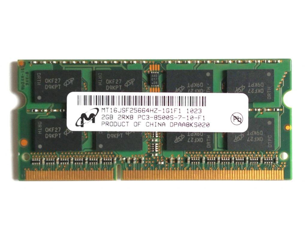 1582 1 micron 2gb ddr3 sodimm 1066mhz cl7 mt16jsf25664hz 1g1f1
