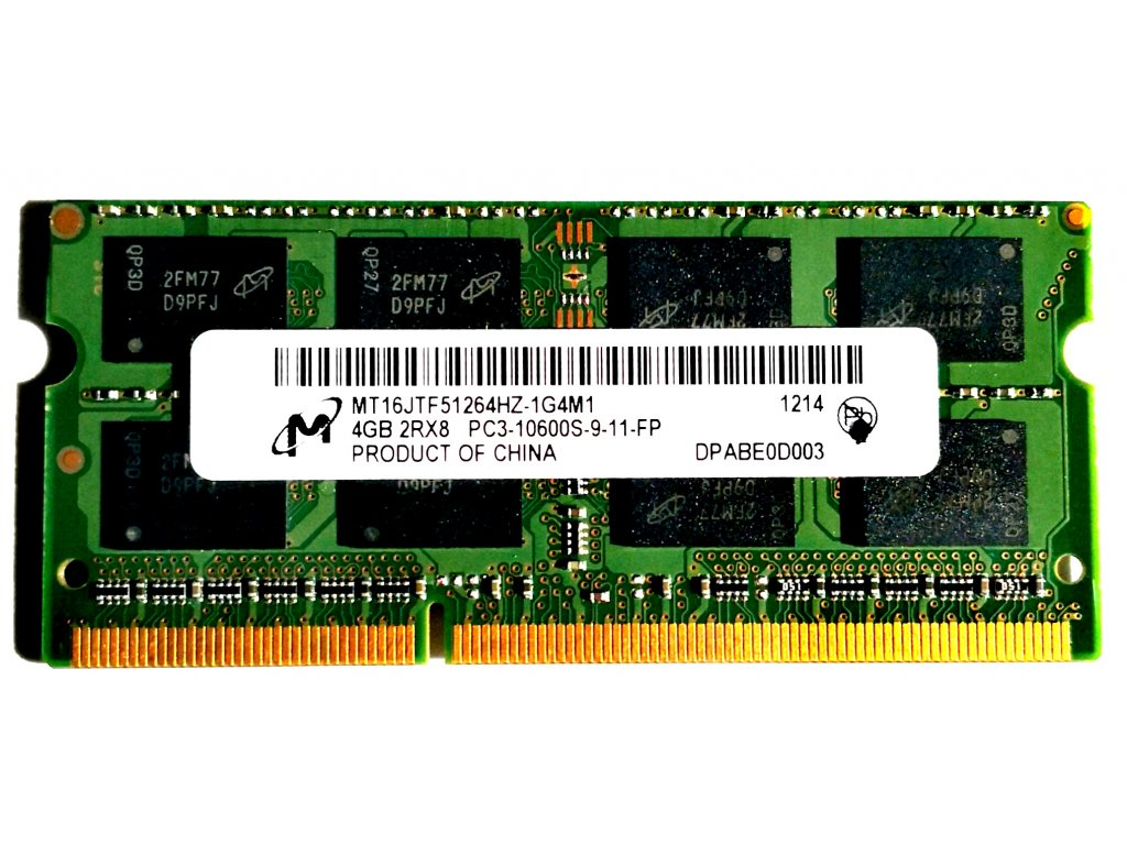 3725 micron 4gb ddr3 sodimm 1333mhz mt16jtf51264hz 1g4m1