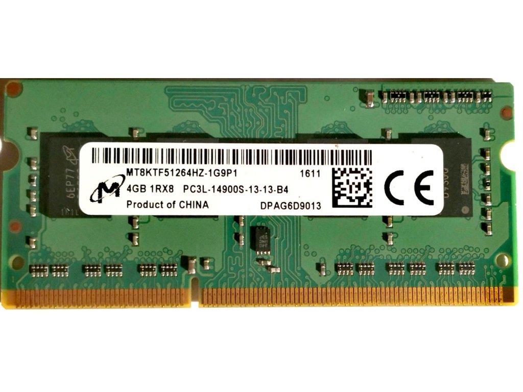3740 1 micron 4gb ddr3l sodimm 1600mhz mt8ktf51264hz 1g6p1