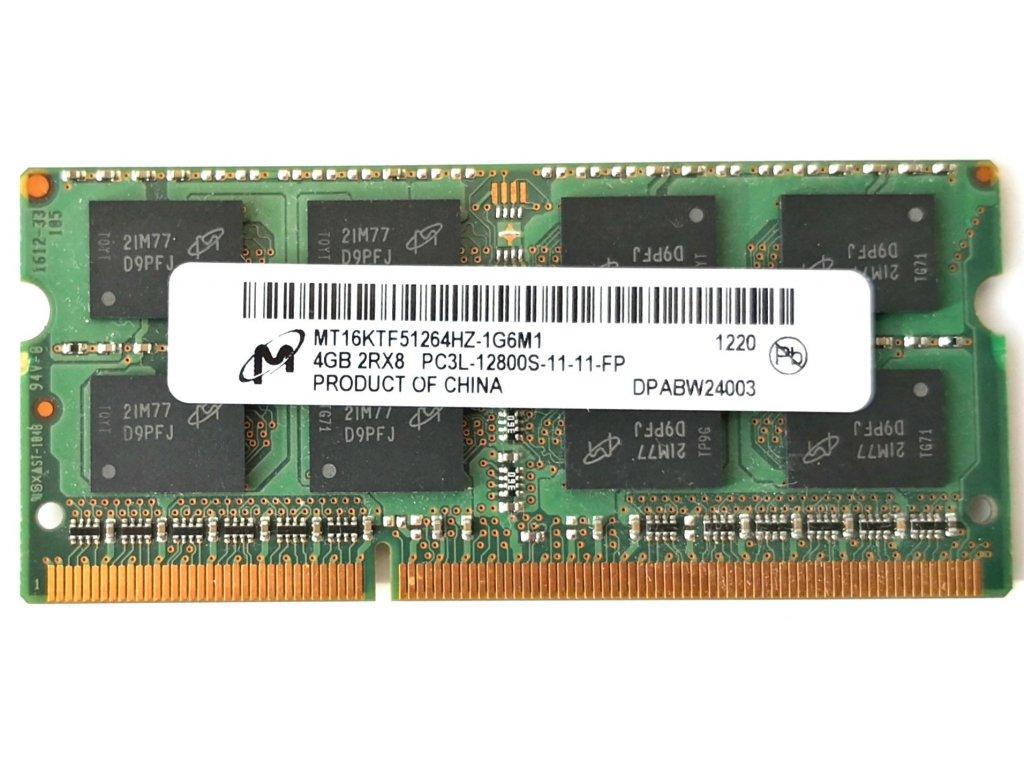 3770 1 micron sodimm ddr3l 4gb 1600mhz cl11 mt16ktf51264hz 1g6m1