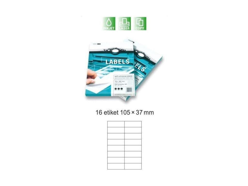 mondi samolepici etikety 100 listu 16 etiket 105 x 37 mm 84252021