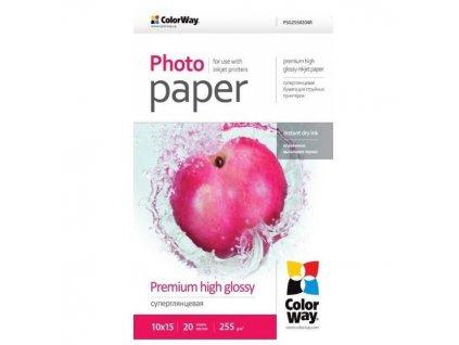 colorway fotopapir premium high glossy 255g m2 10x15 20 kusu 86552437