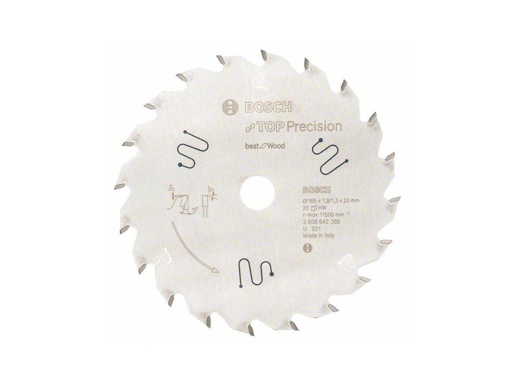 2214 pilovy kotouc do okruznich pil top precision 165 20