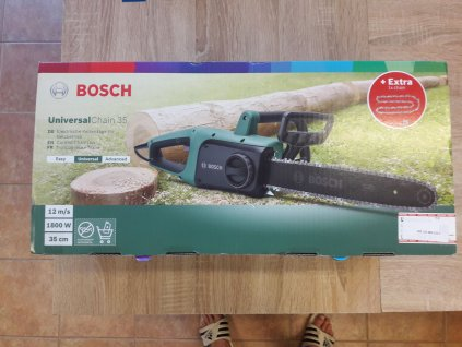 Řetězová pila Bosch UniversalChain 35 - poškozený obal  + řetěz navíc