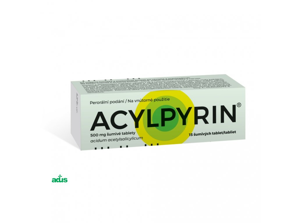 acylpyrin sumive tablety 15 500 mg
