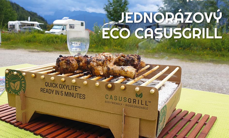 Cestovní ekologický jednorázový gril CasusGrill