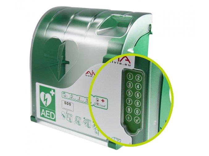 AED box interiérový s alarmem (AIVIA 210 IN)