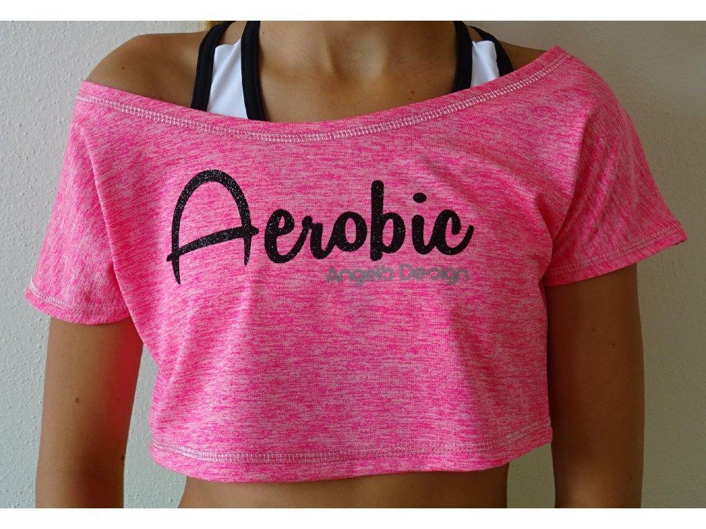 Crop-top SPORTY růžový AEROBIC