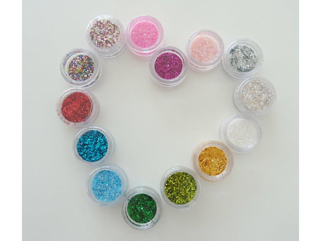 Suchý glitter sypký