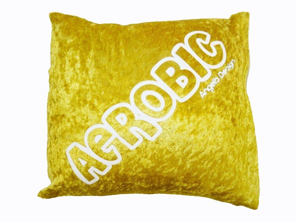 Polštářek AEROBIC zlatý