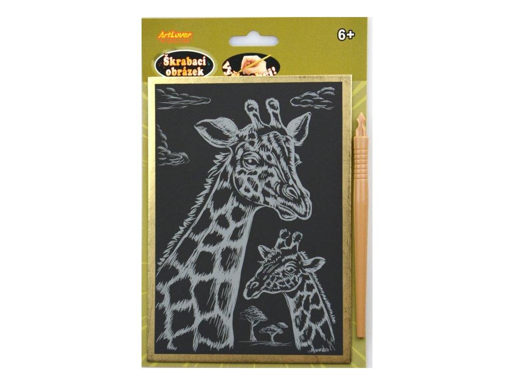 škrabací obrázek žirafa
